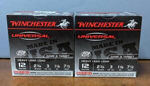 Two Boxes Winchester 12 Gauge 2 3/4 Shotgun Shells