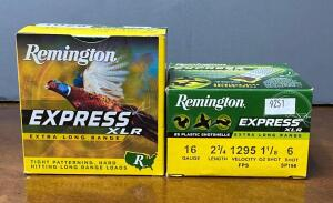 Two Boxes Remington Express XL 16 gauge 2 3/4 Shotgun Shells