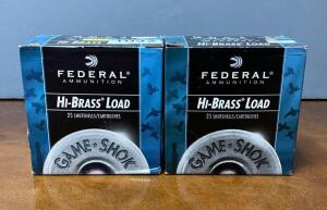 Federal High Brass 16 Gauge 2 3/4 Shotgun Shells Two Boxes