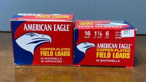 American Eagle 16 Gauge 2 3/4 Shotgun Shells Two Boxes