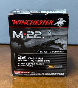 Winchester M 22 .22 Long Rifle Target Rounds