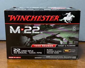 Winchester M 22 .22 Long Rifle 1000 Rounds