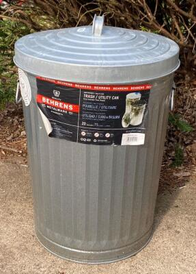 20 Gallon Metal Trash Can