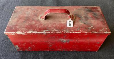 Red Metal Toolbox & Contents