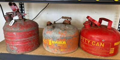 Lot of Metal Gas Cans