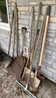 Shovels, Rake, Tote, Chicken Wire, Cleanup Lot