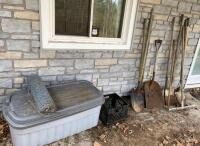Shovels, Rake, Tote, Chicken Wire, Cleanup Lot - 3