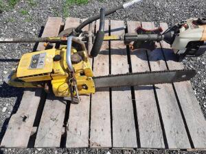 McCullugh I-41 Chain saw and Ryobi strung trimmer