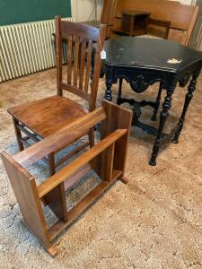 Lot of 3 Pieces Vintage Furniture