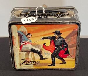 Vintage Zorro lunchbox and Kazzoo's