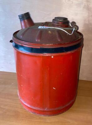 Vintage 5 gallon metal gas can
