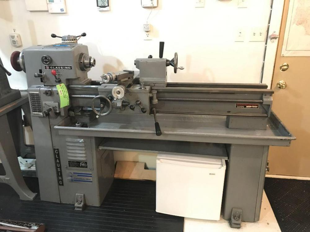 Clausing Model 5913 Turret Lathe - Current price: $1050
