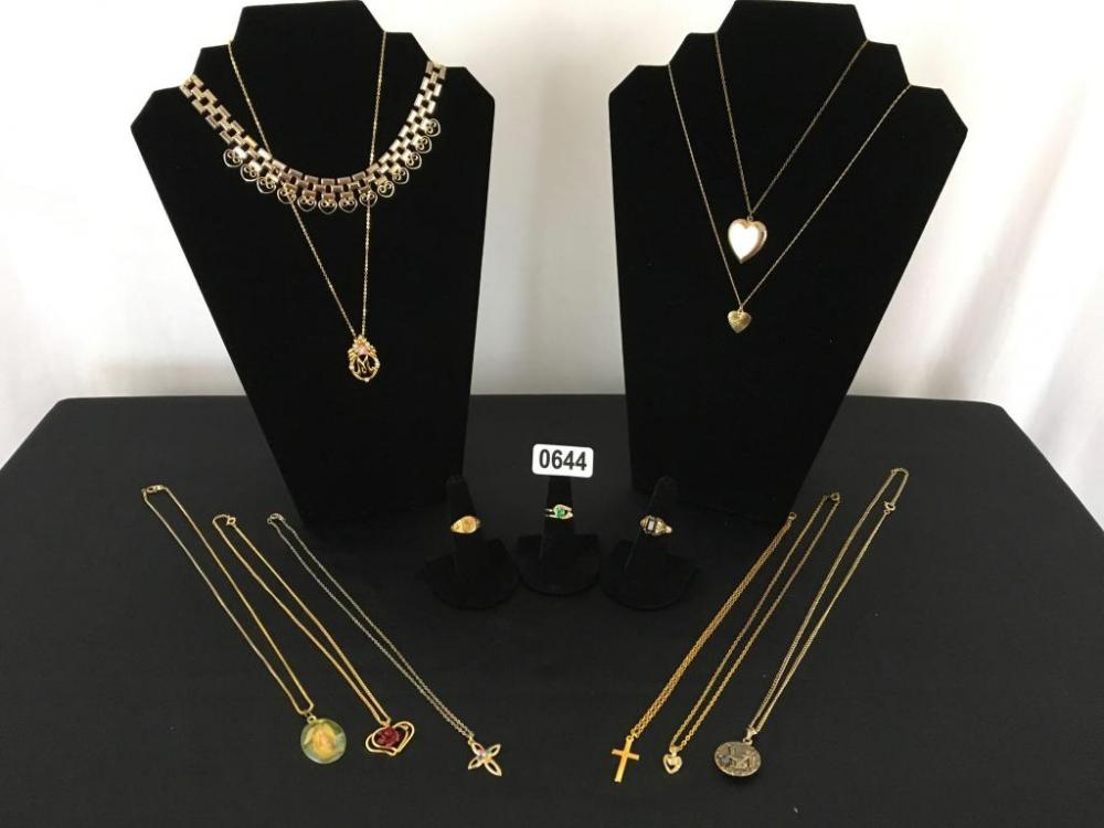 Lot 644 of 302: Lot of Faux Gold Jewelry