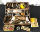 Vintage Tackle Box and Contents