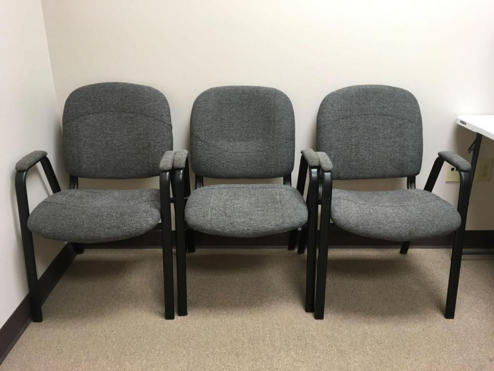Lot 899 Of 70: Lot Of 3 Upholstered FDL Office Chairs