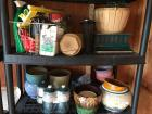 Lot of pots and garden supplies